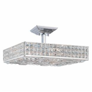 Crystorama 918-CH-CL-MWP Chelsea Square Semi-Flush Mount - 18W in.