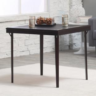 Cosco 32 in. Square Premium Wood Folding Table