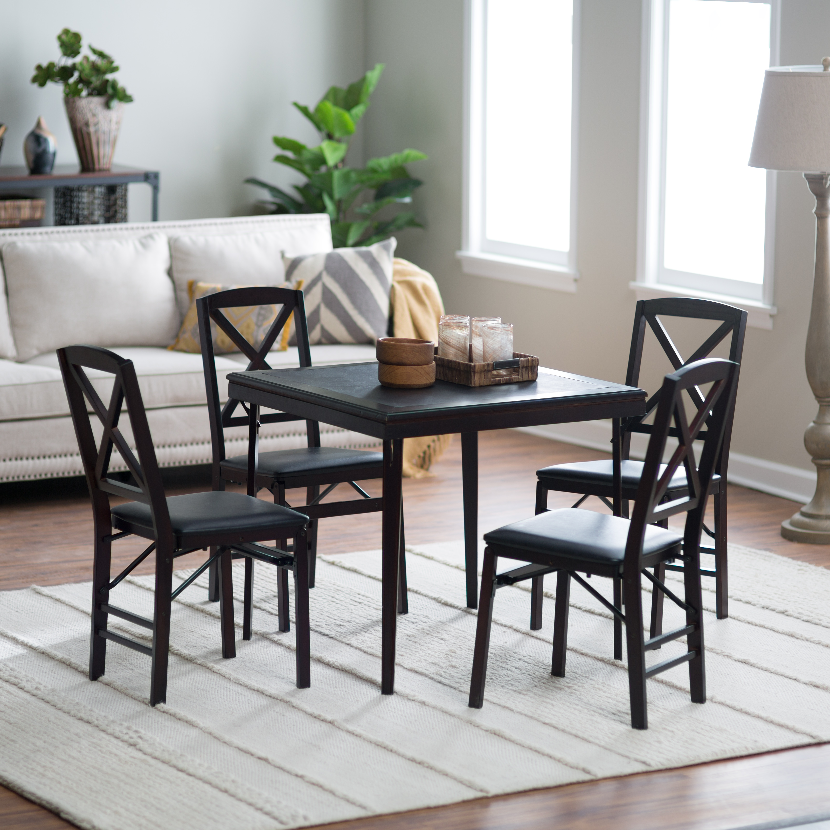 Costco Round Folding Table ... Wood Folding Card Table Set - Folding Tables & Chairs at Hayneedle