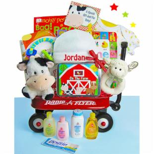 Baby Einstein Day on the Farm Baby Gift Basket