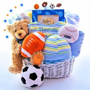 All in the Game Baby Gift Basket - Limited Edition