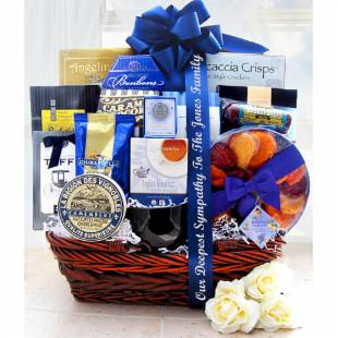Blue Sympathy Gift Basket
