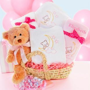 Beary Special Arrival Moses Basket - Girl