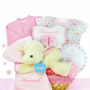 Cashmere Bunny Personalized Lamby Nap Time Gift Basket