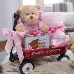 Cashmere Bunny Personalized It's A Girl Wagon