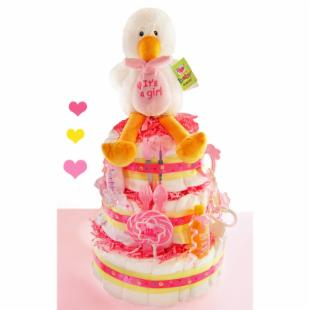 Special Delivery 3 Tier Diaper Cake - Girl