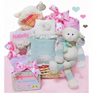 Cashmere Bunny Personalized Personalized Lamby Love Moses Basket