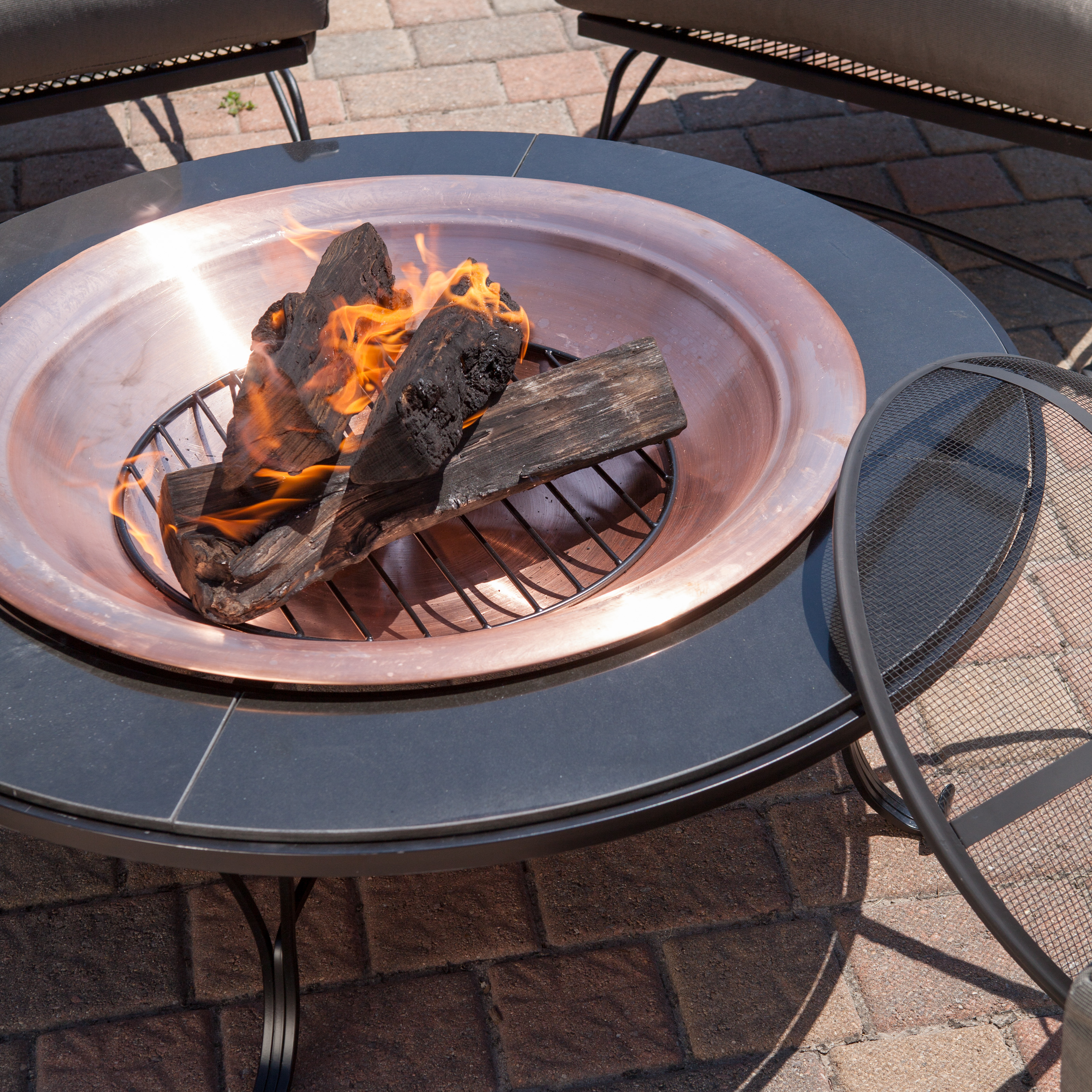 Red Ember Granite Fire Pit Table With Free Cover Fire