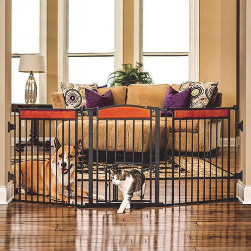 Carlson Pet Design Paw Extra Tall Expandable Pet Gate