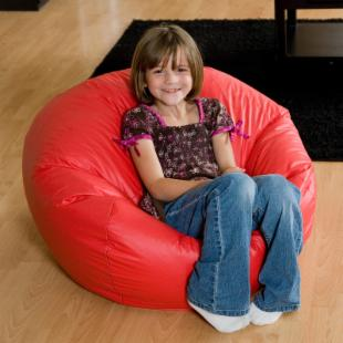 Anywhere Vinyl Lounger Bean Bag Chair - Medium
