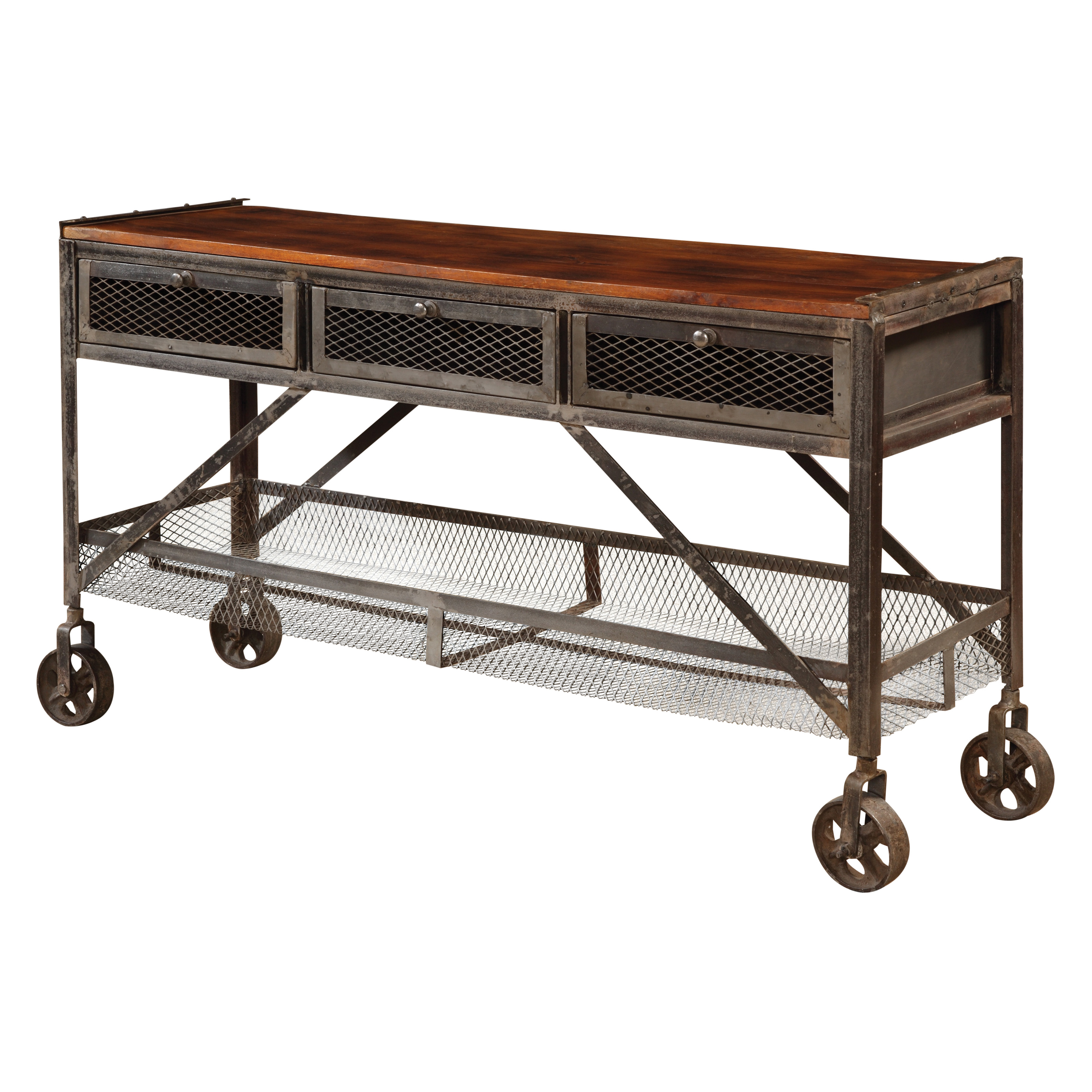 Sofa table on wheels images rustic with