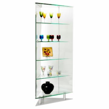 Buy Chintaly Vivianne All Glass Triangular Curio Cabinet 1216 12968