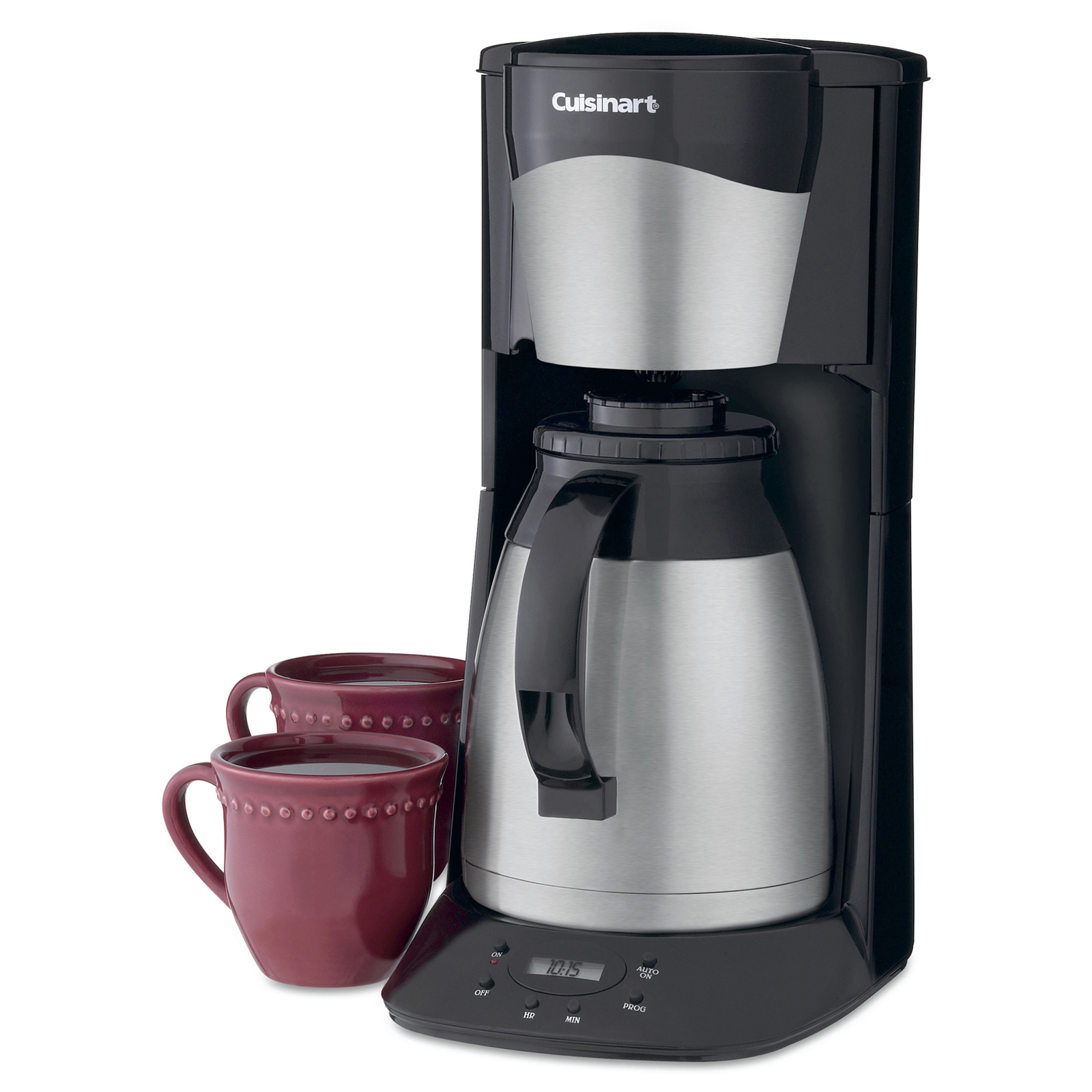 Cuisinart DTC-975 12-Cup Programmable Thermal Coffeemaker - Black & Stainless - Coffee Makers at ...