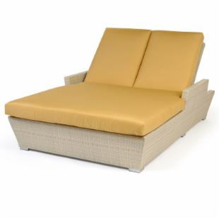 Caluco Verona All-Weather Wicker Double Chaise Lounge