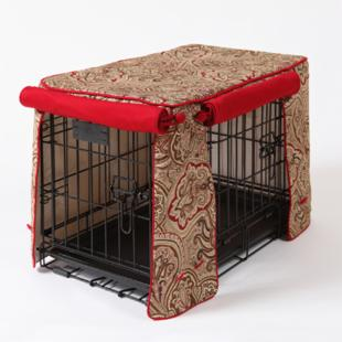 Crimson Espresso Double Door Crate Cover
