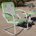  Paradise Cove Retro Metal Arm Chair