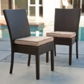  Vallejo All-Weather Wicker Dining Chair - Set of 2