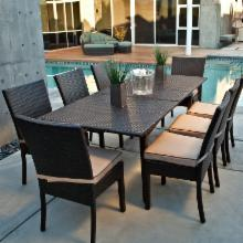 Vallejo All Weather Wicker Extension Dining Set