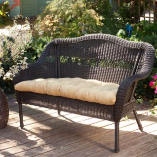 Casco Bay Resin Wicker Loveseat with Optional Cushion 