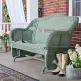  Casco Bay Resin Wicker Double Glider - Sage
