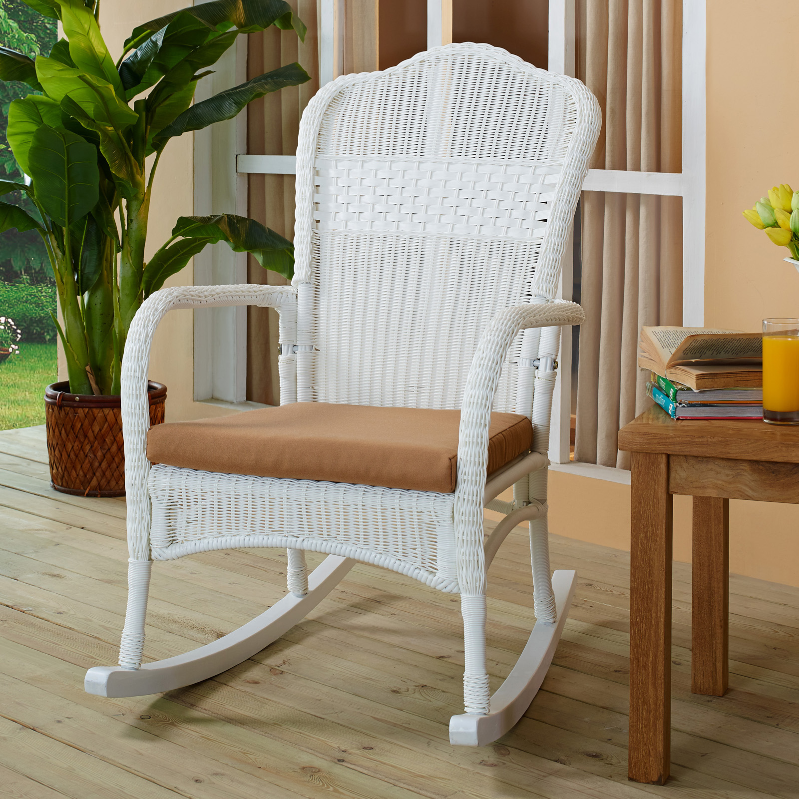 perfect ideas of wicker rocking chair cushions best home design