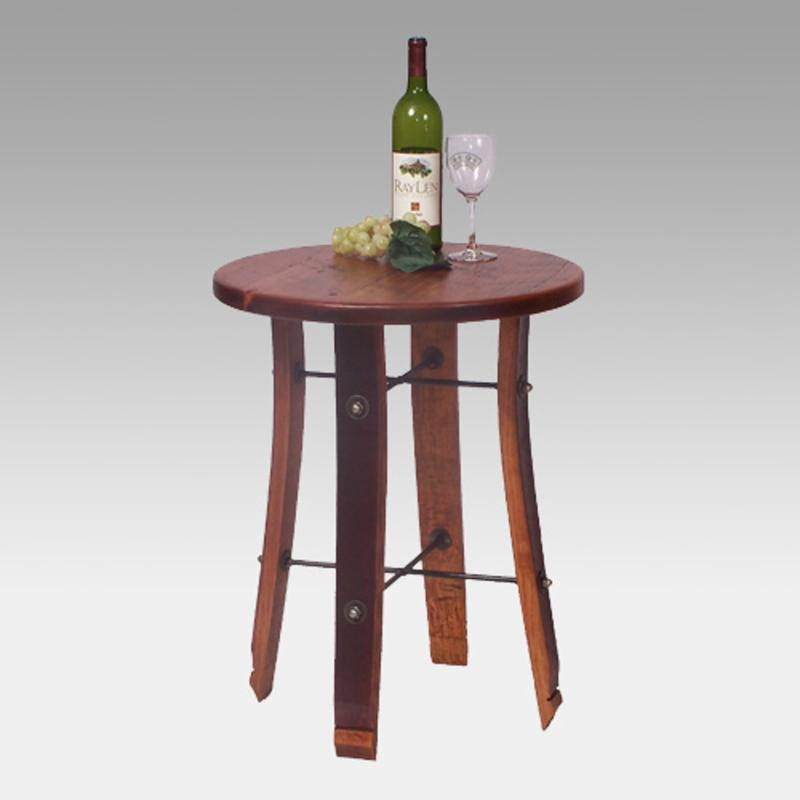 2 Day Designs Reclaimed Wine2night Round Stave End Table