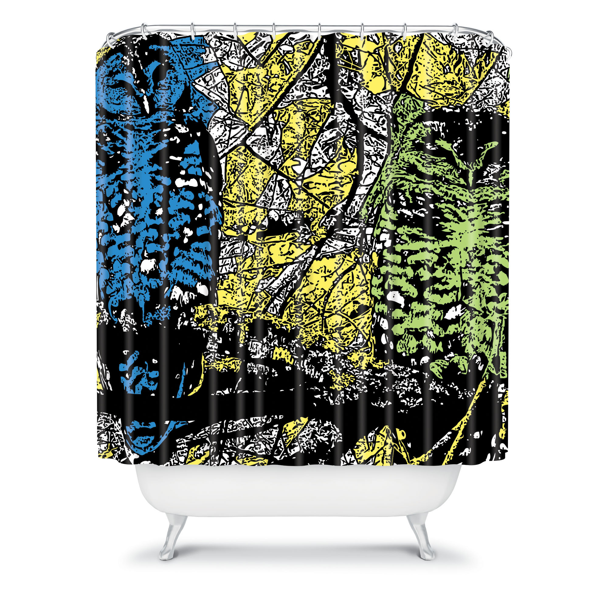 deny designs romi vega owl shower curtain shower