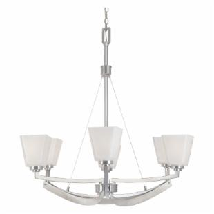Designers Fountain 83086 Avanti 6 Light Chandelier in Satin Platinum Finish