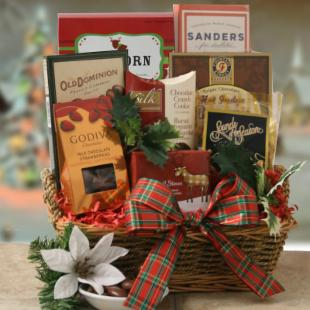 Yule Tide Sweets Gift Basket