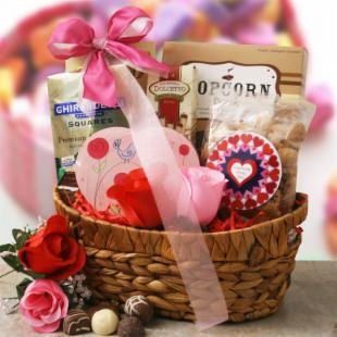 Happy Valentines Gift Basket