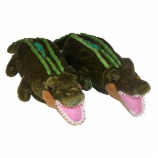 Comfy Feet Alligator Animal Feet Kids Slippers from OnlySlippers com from onlyslippers.com