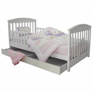 Dream On Me Mission Style Toddler Bed with Storage Drawer