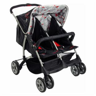Dream On Me Duplex Stroller - Red