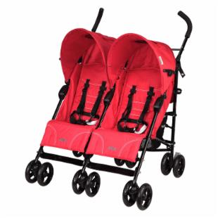 Mia Moda Facile Twin Stroller - Flame