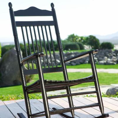 The Dixie Outdoor Black Spindle Rocker