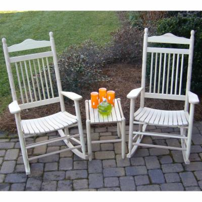  Dixie Outdoor Spindle Rocking Chair Set with FREE Side Table   Unfinished