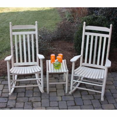 Dixie Outdoor XL Rocking Chair Set with FREE Side Table   Unfinished