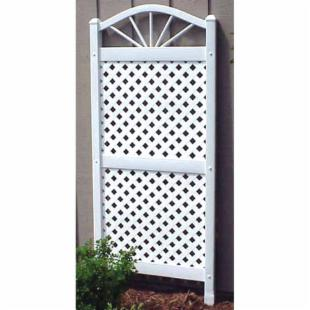Dura-Trel Sunburst 5-ft. Vinyl Lattice Arch Trellis