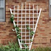  Dura-Trel 7.75-Foot White Vinyl Estate Fan Trellis