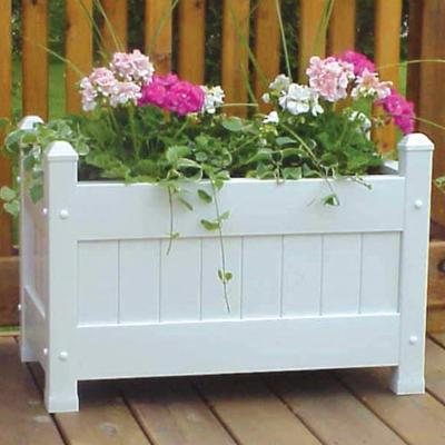Dura-Trel Rectangle Vinyl Camelot Planter Box