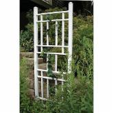 Dura-Trel Wellington 6.25-ft. Vinyl Wall Trellis - White