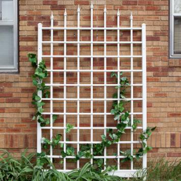  Dura-Trel 8-Foot White Vinyl Winchester Wall Trellis
