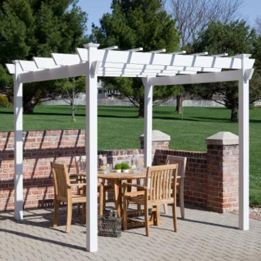 Dura-Trel Kingston 7 x 7 ft. Vinyl Pergola
