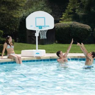 Splash &amp; Shoot Port Regulation-Size Pool Basketball Hoop Set