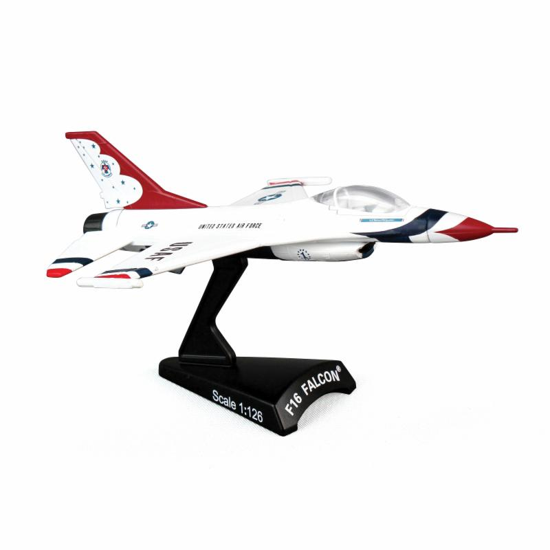 Postage Stamp USAF Thunderbirds F-16 Fighting Falcon 1:126 Scale Model Plane DW1167-1