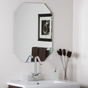 Frameless Dewey Wall Mirror - 23.5W x 31.5H in.