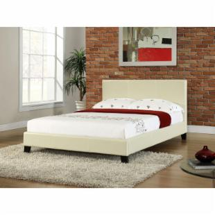 Studio Stratus Upholstered Platform Bed - Cream