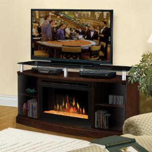 Dimplex Windham Mocha Electric Fireplace Media Console