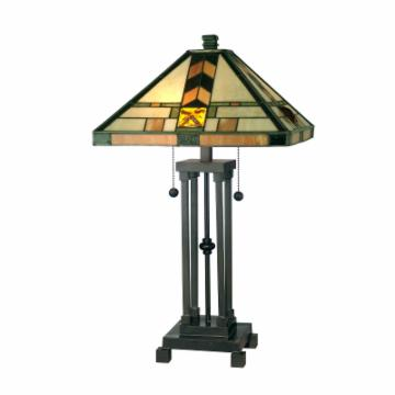 tiffany martin mission style table lamp table lamps at hayneedle. Black Bedroom Furniture Sets. Home Design Ideas