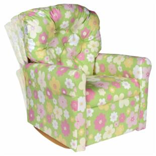 Ellies Garden 7 Button Child Rocker Recliner Chair